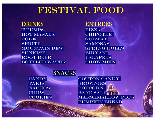 FALL FESTIVAL FOOD 2019